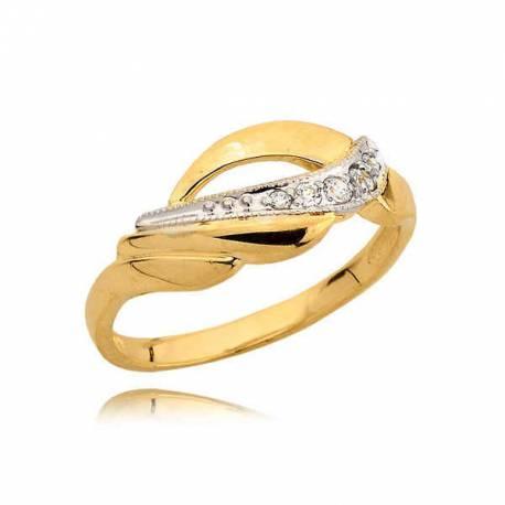 Piękny złoty pierścionek idealny na prezent