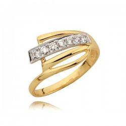 Śliczny pierścionek z orginalnym wzorem