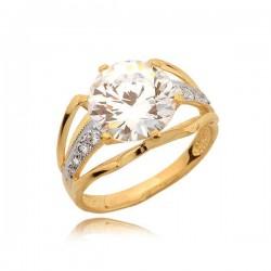 Przepiękny pierścionek z efektowną dużą cyrkonią