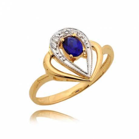 Niezwykle gustowny pierścionek z motywem łezki
