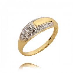 Delikatny pierścionek z cyrkoniami N299