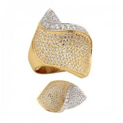 Bogato zdobiony złoty pierścionek
