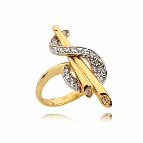 Złoty pierścionek N321