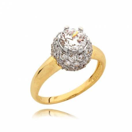 Złoty pierścionek N331