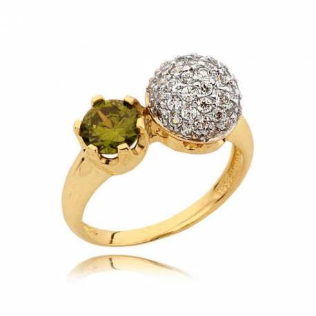 Złoty pierścionek N333