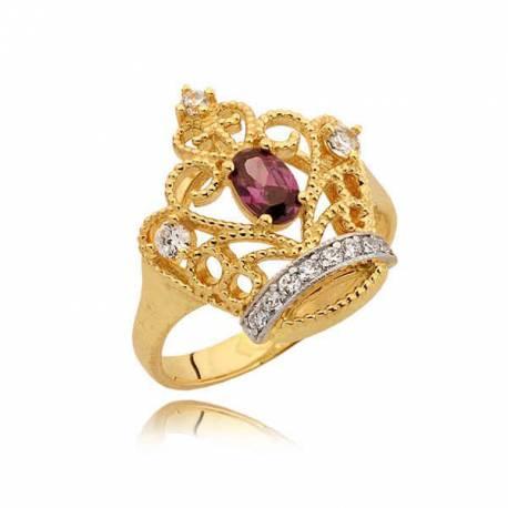 Złoty pierścionek N343