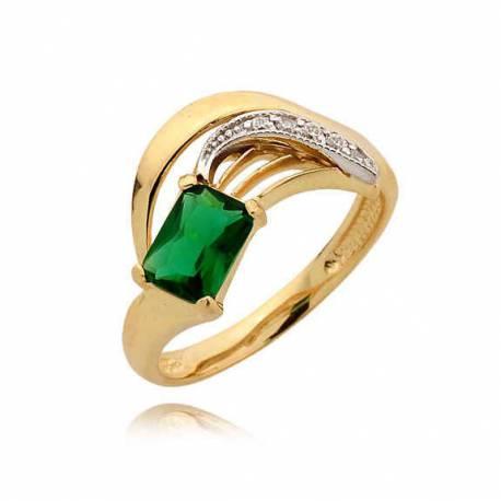 Złoty pierścionek N346