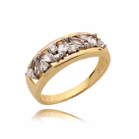 Złoty pierścionek N349