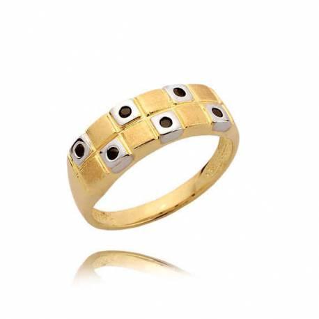 Złoty pierścionek N350