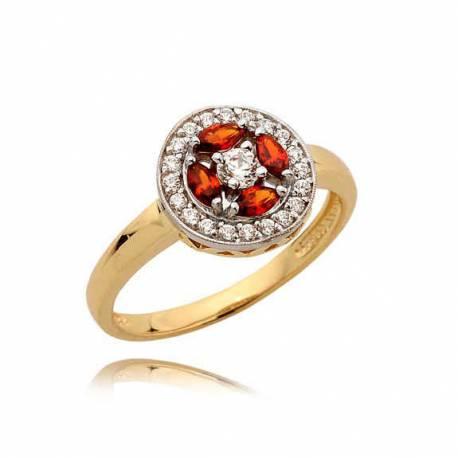 Złoty pierścionek N355