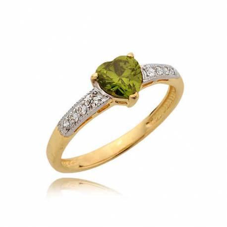 Złoty pierścionek N356