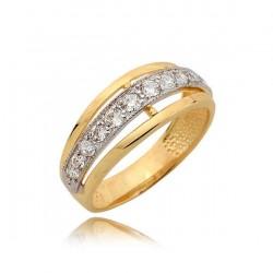 Złoty pierścionek N358