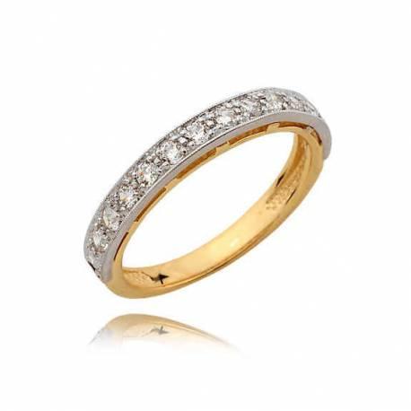 Złoty pierścionek N363