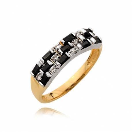Złoty pierścionek N370