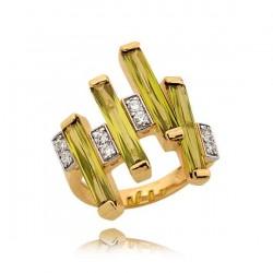 Złoty pierścionek N371