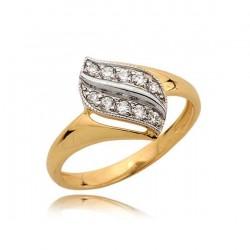 Złoty pierścionek N372