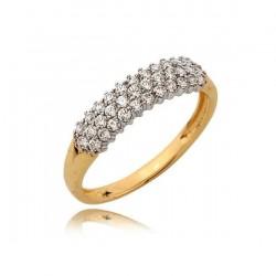 Złoty pierścionek N373