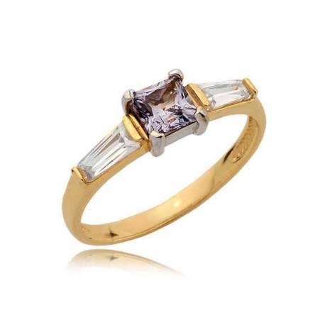 Złoty pierścionek N374