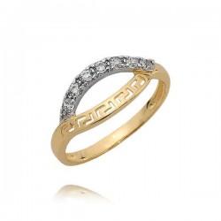 Złoty pierścionek N376