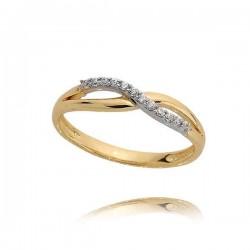Złoty pierścionek N378