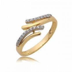 Złoty pierścionek N379