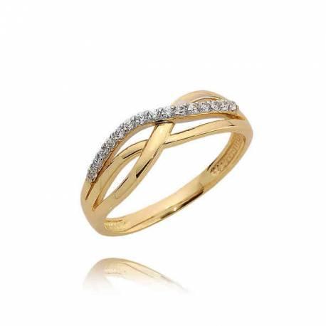 Złoty pierścionek N382
