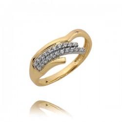 Złoty pierścionek N383