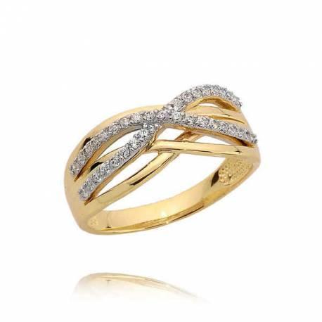 Złoty pierścionek N384