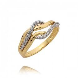 Złoty pierścionek N385