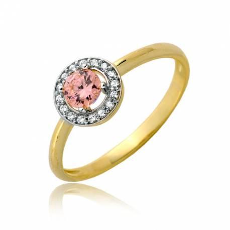 Migoczący damski pierścionek P1899