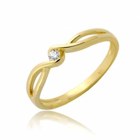 Delikatny damski pierścionek P1902
