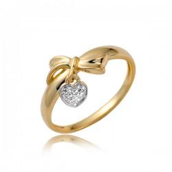 Złoty pierścionek P1864