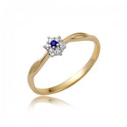 Złoty pierścionek P1859