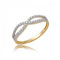 Uroczy złoty pierścionek P1858