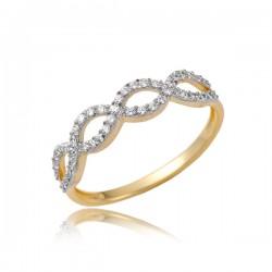 Złoty damski pierścioneczek P1856