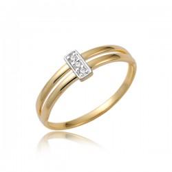 Złoty damski pierścioneczek P1854