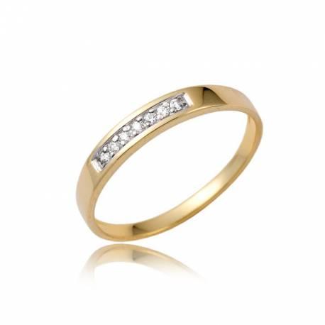 Damski złoty pierścionek P1853