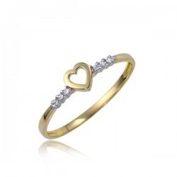 Złoty damski pierścioneczek P1848