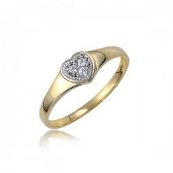 Złoty pierścionek P1847