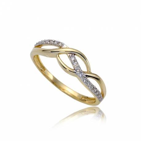 Kapitalny złoty pierścionek P1843