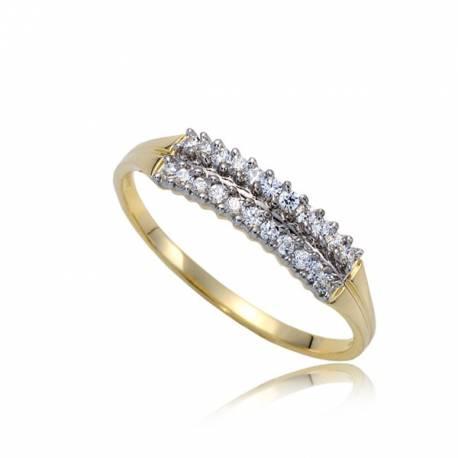 Ozdobny pierścionek złoty P1834