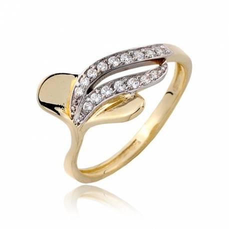 Wspaniały Złoty pierścionek P1814