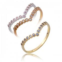 Złoty pierścionek P1804