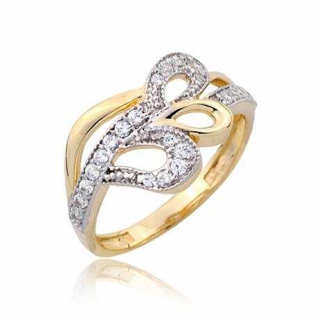 Złocisty pierścionek P1796