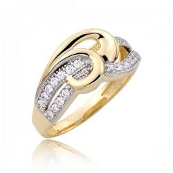 Błyszczący pierścionek P1795