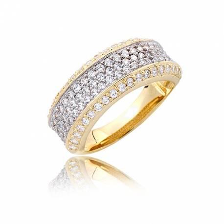 Kobiecy złoty pierścionek P1785