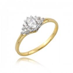 Okazały złoty pierścionek P1761