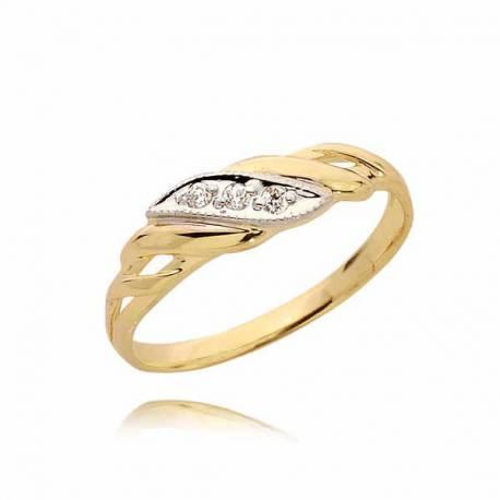 Pierścionek złoty PB36