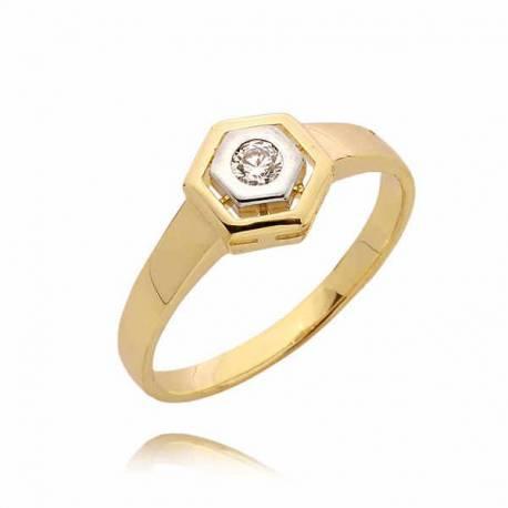 Złoty pierścionek PB42