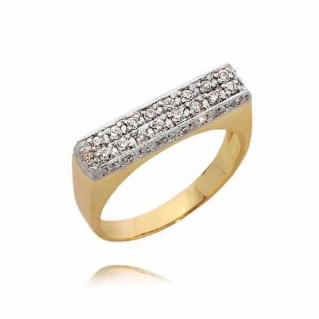 Złoty pierścionek PB43
